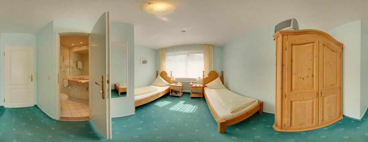 Gästezimmer mit Einzelbetten